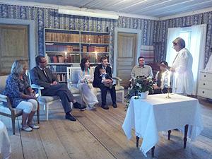 Frägsta Hälsingegård bröllop - Vigsel salongen