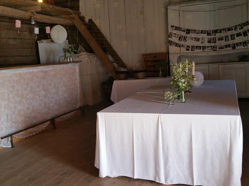 Bröllop Frägsta Hälsingegård-bar/buffe bord