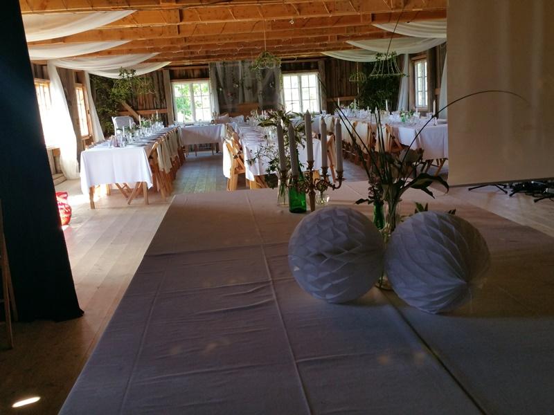 Bröllop Frägsta Hälsingegård-barområdet