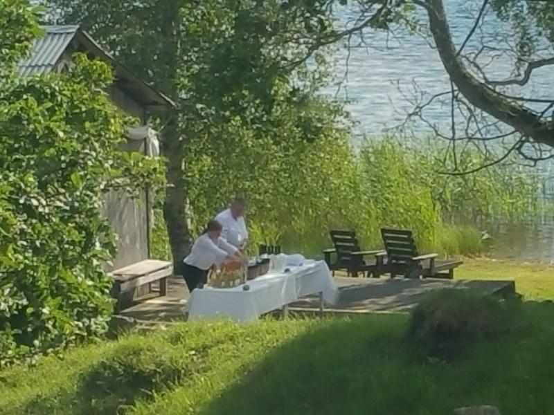 Bröllop Frägsta Hälsingegård-Bryggan välkomstdrink