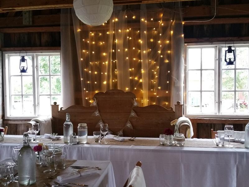 Frägsta Hälsingegård bröllop - dukning