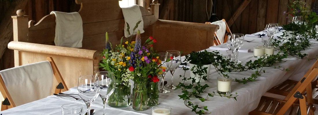 Frägsta Hälsingegår bröllp - Dukning
