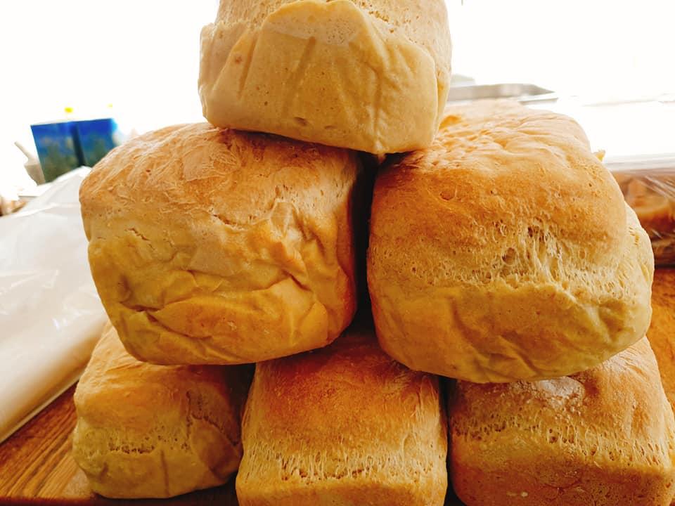 Focaccia bröd till Frukost